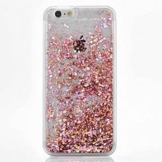 Pretty Rose Gold Cascading Flakes Hard Case for your iPhone. High Quality Protective Hard Case Easy Access to Ports Available for iPhone 5 5S SE 6S 6 Plus
