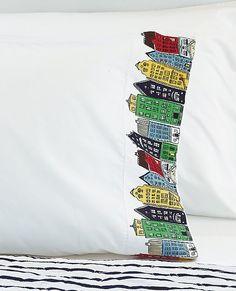 Port Town Pillowcase from #HannaAndersson.