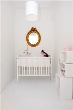 tiny white nursery or how to make it work with small space