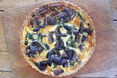 Belleau Cocina: hongos Portobello y quiche de la col rizada con quebrada cheddar