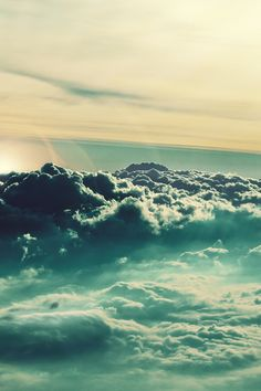 an ocean of light called the sky above the clouds