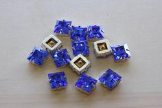 10MM Swarovski  Sapphire Square Beads by TwinBeadsLLC on Etsy