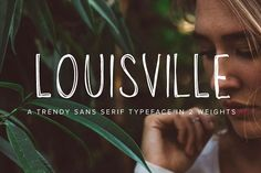 Louisville | Multi-Weight Typeface by Jen Wagner Co on @creativemarket