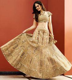 Beige Art Raw Silk Wedding Lehengacholi ,Indian Dresses - 2