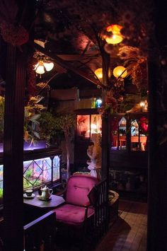 """It is a coffee shop called """"Esell's courtyard"""" in Koenji, a fairy swimming fish in the recommended aquarium, just looking at the starr… Cafe Interior, Interior Design Living Room, Interior And Exterior, Interior Decorating, Fantasy House, Interiores Design, My Dream Home, Architecture Design, Shops"""