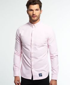 Mens - Ultimate Oxford Shirt in Coast Pink | Superdry