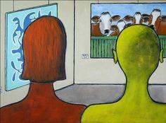 Acrylbild 'Muh !' - Angelika Rump