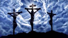 Jesus Christ was crucified whereby God gave man a gift of Salvation through Jesus being the final sacrifice for the sins of man. Jesus Tattoo, Cruces Tattoo, Calvary Cross, Spiritual Paintings, Religious Tattoos, Jesus On The Cross, Timeline Covers, Fb Covers, Timeline Photos