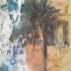 palmenfenster radierung fototranfer juttamaRie