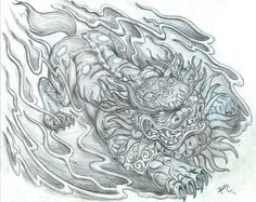 Raynard's Drawing Board: Foo Dog Design