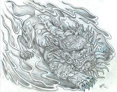 Raynard's Drawing Board: Foo Dog Design