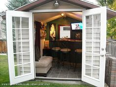 Is your shed not during enough beer? Convert it into a Pub Shed!