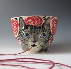 kitty knitty bowl