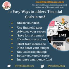 How to Achieve Financial Goals in 2018?  #finance #financialgoals #financialfreedom  #financegoals2018 #moneymanagement #creditmanagement