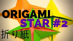 "How to Make an Origami Star #2 (Difficulty: Beginner) - In this step by step tutorial, I show you how to create version #2 of a classic symmetrical origami (折り紙) four pointed paper star. The two origami books I use are: Irmagard Kneissler's, ""Origami Made Easy"" and Nick Robinson's ""Absolute Beginner's Origami"""