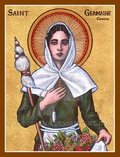 St. Germaine Cousin icon by Theophilia.deviantart.com on @DeviantArt