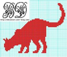 Cross Stitch Freebies, Cross Stitch Charts, Cross Stitch Patterns, Diy Crochet Cat, Filet Crochet, Embroidery Patterns, Knitting Patterns, Beads Pictures, Cat Pattern