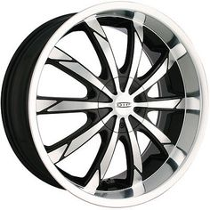 D66-2811B 20x8.5 5x110 5x115 Wheels Rims Black 40 Offset Alloy 10 Spoke