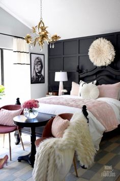 Summer is arriving and we need to get ready for it so, today PullCast is going to present you 6 impressive summer interior design trends for your home. Glam Bedroom, Living Room Bedroom, Home Bedroom, Bedroom Decor, Black Bedroom Furniture, Diy Home Decor Rustic, Bohemian Style Bedrooms, New Room, Room Inspiration
