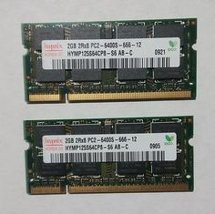 4GB 2 2GB PC2-6400 Laptop Memory RAM DDR2 800 SODIMM Acer Dell HP Lenovo Toshiba