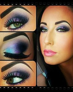 Looove this! The colors are fabulous! This is perfection<3 I do my eyes like this sometimes when I go out. <3<3 Perfect <3<3