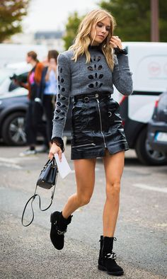 Street Style Stars Love to Wear This Miniskirt via @WhoWhatWearUK