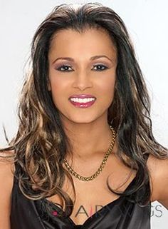 Up-to-date Long Wavy Brown African American Lace Wigs for Women