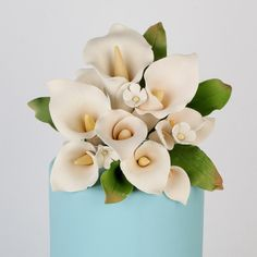 Medium Calla Lily Cake Topper Sugarflower spray.   CaljavaOnline.com