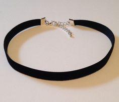 black velvet choker plain 12 necklace 90s grunge by dcauldron, $5.00