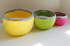 Crocheted nesting baskets