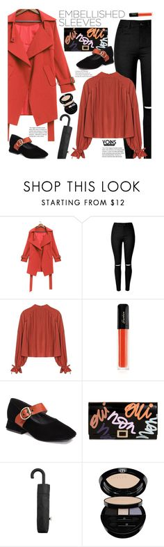 """""""Yoins"""" by beebeely-look ❤ liked on Polyvore featuring Guerlain, Roger Vivier, MANGO and Giorgio Armani"""