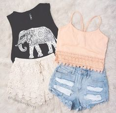 Take a look at 15 cute teen summer outfits with a crop top in the photos below and get ideas for your own outfits! Never been a huge fan of crop tops but never really knew how to wear them…… Continue Reading → Teen Fashion Outfits, Cute Fashion, Casual Outfits, Tween Fashion, Casual Shorts, Fashion Photo, Shorts Outfits For Teens, Trendy Fashion, Fashion Clothes