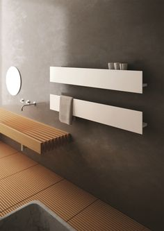 Iconic Radiators' towel rail Serie T, available in a variety of RAL colours. Featured in September 2013 Kitchens & Bathrooms News