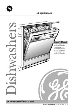 8 best dishwashers we repair images on pinterest dishwasher rh pinterest com general electric profile dishwasher owners manual general electric dishwasher installation manual