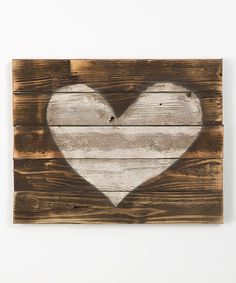 Look at this Dark Walnut Heart Wall Art on #zulily today!