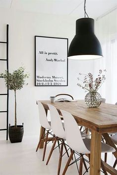 Black and white dining room via California Home & Design