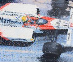 Ayrton Senna McLaren 1988 Original Painting by Simon Ward. #SennaSempre #AyrtonSenna #painting #F1