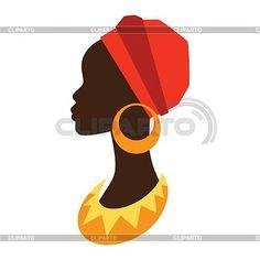 Resultado de imagen para figura de perfil de africana