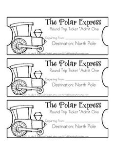 The Polar Express Tickets (eng)- free - Lidia Barbosa - TeachersPayTeachers.com