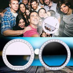 Einzigartige Universal Luxus LED Leuchten Selfie Leuchttelefonkasten Ring für iPhone 7 6 6 S Plus LG Samsung HTC ETC A # S0