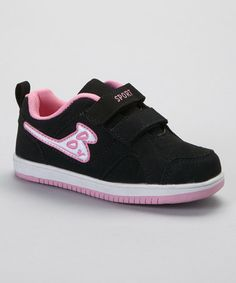 Loving this Black & Pink Boo Sneaker on #zulily! #zulilyfinds