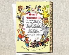 Little Golden Books Invitation  Storybook by PaintedOwlDesigns