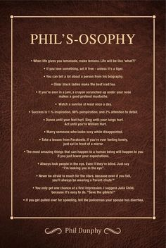 Phil's-osophy Poster: Life lessons from Modern Family's loving dad - Phil Dunphy