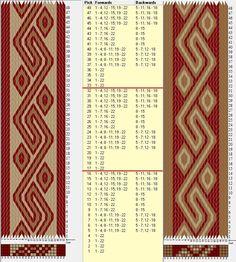 22 tarjetas, 3 colores, repite cada 16 movimientos / sed_761 diseñado en GTT༺❁