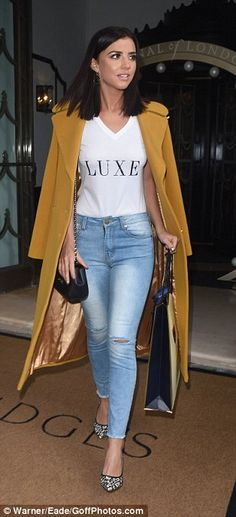Lucy Mecklenburgh for Aspinal London Fashion Week showcase