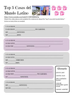 Free listening activity for your Spanish House unit. Authentic listening for the proficiency classroom. Includes Spanish pop culture.