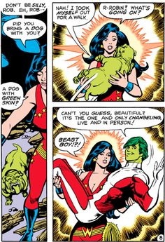 Beast Boy & Donna Troy in The New Teen Titans #1 (1980) -   George Perez