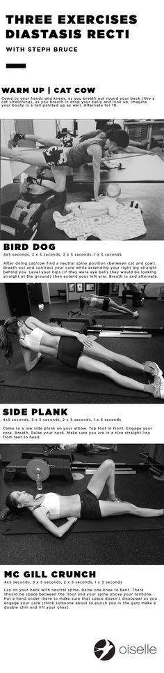 Steph Bruce and Sarah Robinson (two professional runners and mothers) list their top three exercises to strengthen ab separation from Diastasis Recti | click to read on