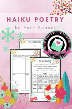This package includes a fun activity where kids learn about haiku poetry and create their own about the four seasons. It also includes a rubric if you would like to use the activity as a formal/informal assessment. The class will need to have prior knowle Teaching Poetry, Writing Poetry, Help Teaching, Teaching Ideas, Poetry Lessons, Writing Lessons, Social Studies Resources, Reading Resources, Figure Of Speech