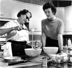 Simone Beck and Julia Child